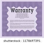 violet warranty. money pattern... | Shutterstock .eps vector #1178697391