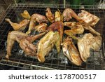 grilled chicken on the brazier   Shutterstock . vector #1178700517
