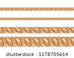 vector seamless sea rope of... | Shutterstock .eps vector #1178705614