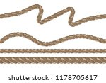 vector seamless sea rope of... | Shutterstock .eps vector #1178705617