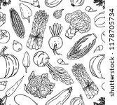 vegetable vector seamless...   Shutterstock .eps vector #1178705734