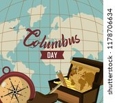happy columbus day card | Shutterstock .eps vector #1178706634