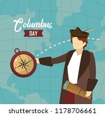 happy columbus day card | Shutterstock .eps vector #1178706661