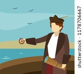 columbus day cartoons | Shutterstock .eps vector #1178706667