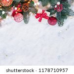 christmas evergreen tree... | Shutterstock . vector #1178710957