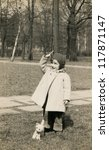 Vintage Photo Of Little Girl ...