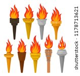 set of different torches with... | Shutterstock .eps vector #1178713621
