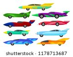 flat vector set of colorful... | Shutterstock .eps vector #1178713687