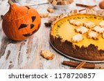 homemade spicy pumpkin pie... | Shutterstock . vector #1178720857