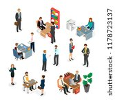 the office staff at work.... | Shutterstock .eps vector #1178723137