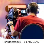 professional cameraman with... | Shutterstock . vector #117872647