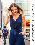 young eastern european woman...   Shutterstock . vector #1178729161
