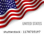 waving flag of united states... | Shutterstock .eps vector #1178735197
