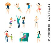 people icon set. swimming ... | Shutterstock .eps vector #1178741161