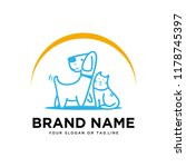 creative logo design dog and... | Shutterstock .eps vector #1178745397