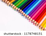 colorful pencils on the white... | Shutterstock . vector #1178748151