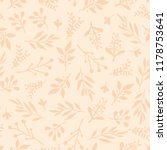 foliage seamless vector...   Shutterstock .eps vector #1178753641
