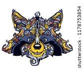 raccon face line art  vector...   Shutterstock .eps vector #1178753854
