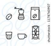 types of coffee equipment icon...