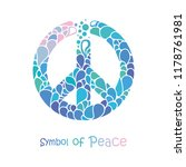 symbol of peace. peace sign...   Shutterstock .eps vector #1178761981