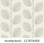 Seamless pattern from leaves - stock photo