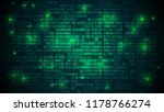 abstract futuristic cyberspace... | Shutterstock . vector #1178766274