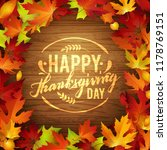 happy thanksgiving holiday... | Shutterstock .eps vector #1178769151