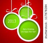 Abstract Green Christmas Balls...