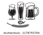 vintage beer set. two beer... | Shutterstock .eps vector #1178792704