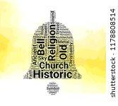 church bell word cloud vector... | Shutterstock .eps vector #1178808514
