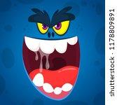 angry  cartoon monster face... | Shutterstock .eps vector #1178809891