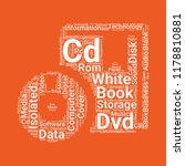 book with cd rom word cloud...   Shutterstock .eps vector #1178810881