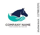 Stock vector logo design horse care horse training vector template 1178815291