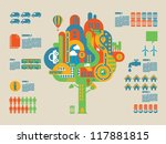 ecology tree info graphic... | Shutterstock .eps vector #117881815