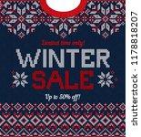 ugly sweater christmas season... | Shutterstock .eps vector #1178818207