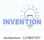 hand drawn invention sign and... | Shutterstock .eps vector #1178827357