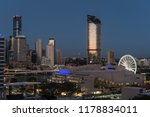 view of downtown brisbane... | Shutterstock . vector #1178834011