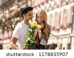 beautiful young couple with...   Shutterstock . vector #1178835907