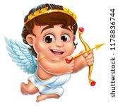 illustration of cheerful cupid... | Shutterstock . vector #1178836744