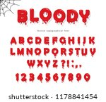 halloween bloody font. abc... | Shutterstock .eps vector #1178841454
