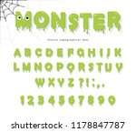 halloween cute monster font for ... | Shutterstock .eps vector #1178847787