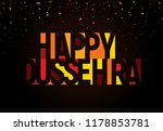 happy dussehra greeting banner. ... | Shutterstock .eps vector #1178853781