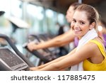 happy people doing indoor... | Shutterstock . vector #117885475