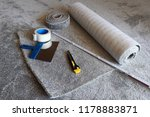 a new carpet is laid  | Shutterstock . vector #1178883871