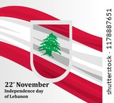 independence day of lebanon... | Shutterstock .eps vector #1178887651