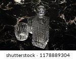 crystal bottle and glasses | Shutterstock . vector #1178889304