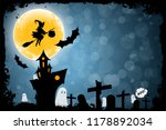 halloween funny background with ... | Shutterstock . vector #1178892034