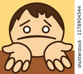 pictogram of poor sorry man... | Shutterstock .eps vector #1178904544