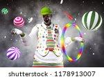 3d illustration of scary clown... | Shutterstock . vector #1178913007