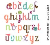 Girly Alphabet Vector Set  ...